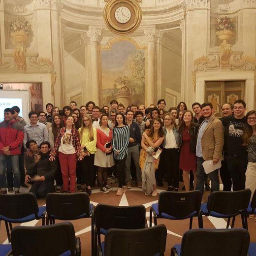 Първо посещение на ученици от НГДЕК в Accademia Vivarium Novum - 26-30 април 2017г.