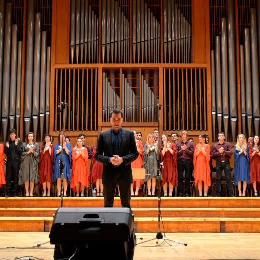 """""""Тайнството на гласовете"""" - юбилеен спектакъл по случай 35 години хорови състави към НГДЕК, 13 май 2017г."""